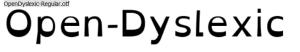 font-open-dyslexis