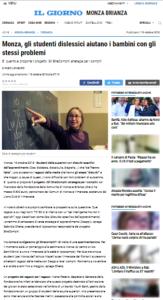 Il Giorno - 19 ottbre 2018 StraCompiti per ragazzi dislessici
