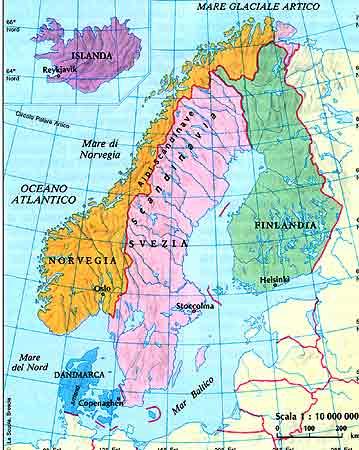 Cartina Politica Norvegia.Video Sulla Regione Scandinava Dsapp Diverse Strategie Di Apprendimento